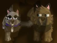 Eyra and Kieran as pups