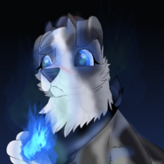 Diana bending blue flame