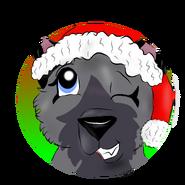 Eyra in Santa s hat