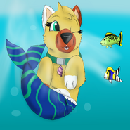 Paradise swimming underwater