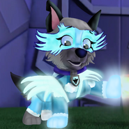 Eyra in Mighty Pups Charged Up outfit screenshot edit