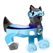 Eyra as a Mighty Pup