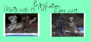 Dilara and Patty and Eyra and Ray Puppyfications