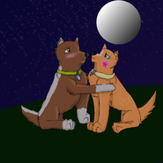 Iwan X Mja at the moon eclipse