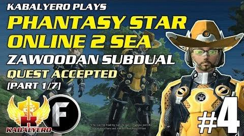 Phantasy Star Online 2 SEA E4-P1 7 Zawoodan Subdual - Quest Accepted