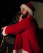 Jesse JT hugging Christmas