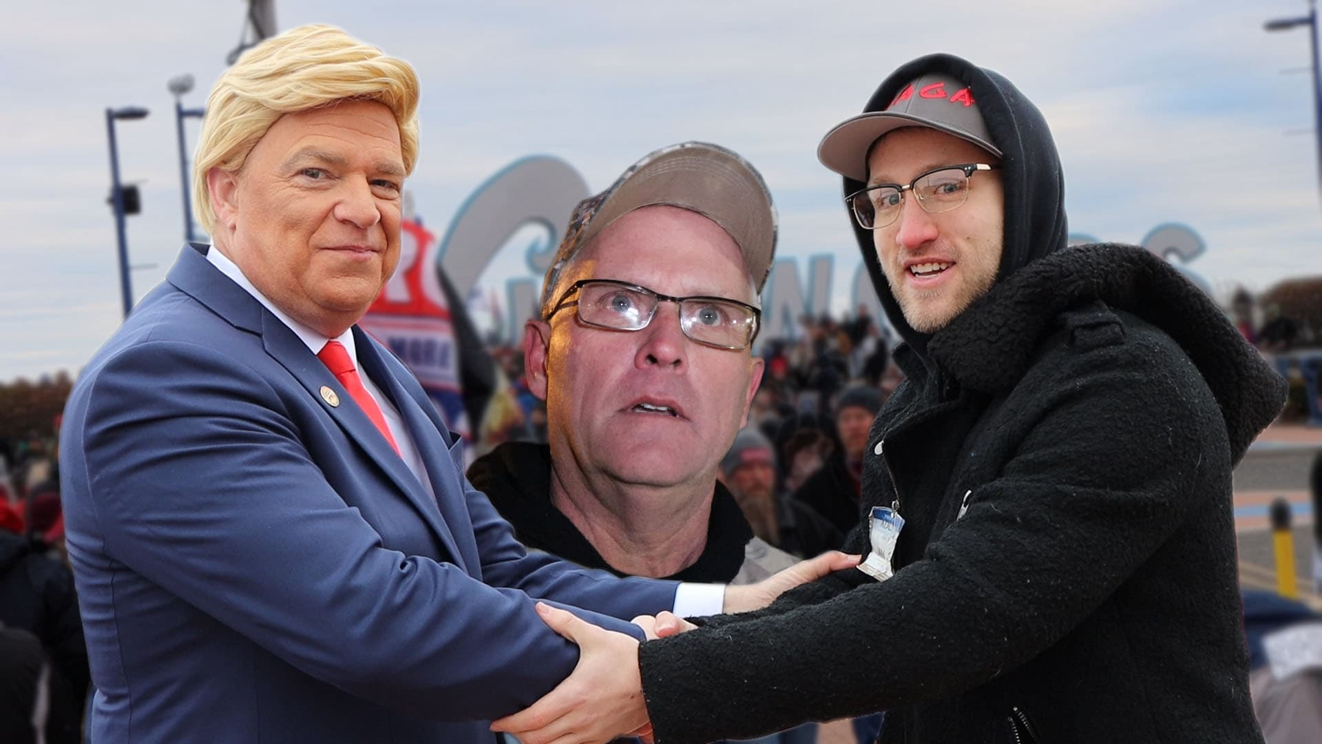 CONFRONTING PSYCHO DAD AT THE TRUMP RALLY!