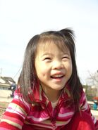 Asian girl with dimples