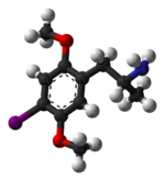 ball-and-stick model of (R)-DOI