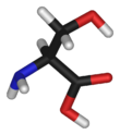 Chemical structure of Serine