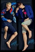 Handsome barefoot Chinese men
