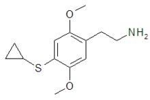 Chemical structure of 2C-T-15