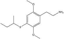 Chemical structure of 2C-T-17