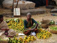 Woman at market in Bangalore