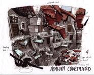 Asylum courtyard