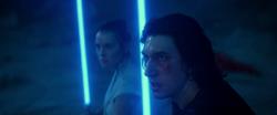 Rey e Ben Solo juntos para enfrentar Sidious.