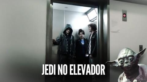 Pegadinha do Jedi no Elevador