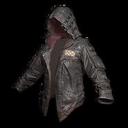 LeatherHoodieBlack