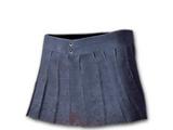 Pilsowana spódnica mini (niebieska)