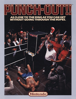 North American Punch-Out!! arcade flyer.