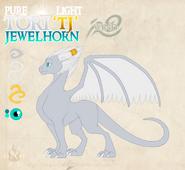 Pure light toryujewelhorn by dragonoficeandfire-d9lg84w