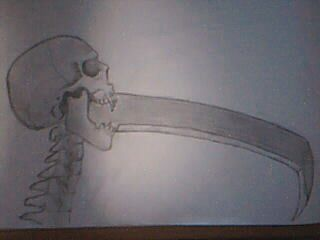 My idea for a new scythe for the Design-a-Weapon contest, but I didn't send it off in time. Close-up on the blade