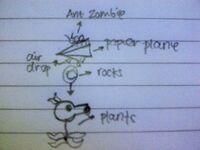 Paper Plane Ant Zombie
