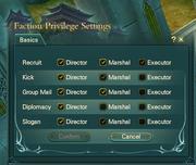 privilage settings