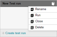 Test runs