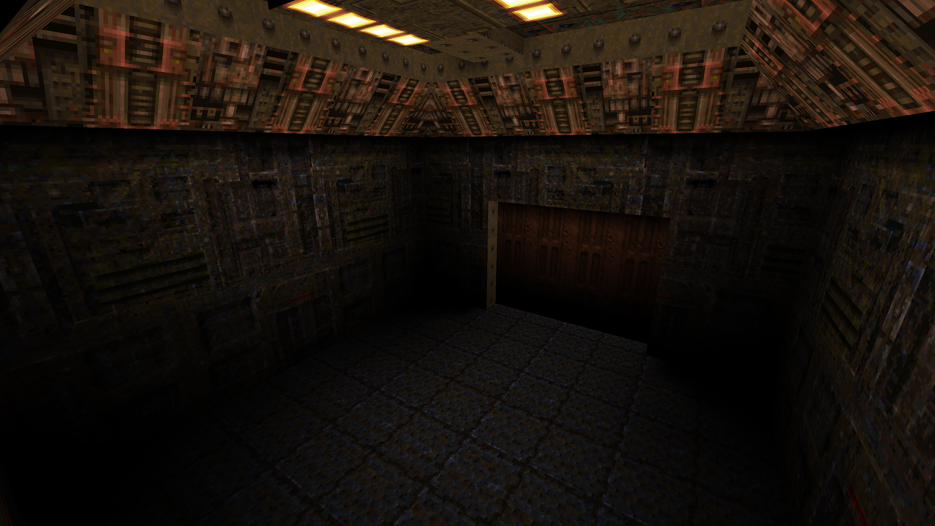 The Quad-Sectioned Military Door - from id Software's E2M1