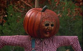 """Sam as a Halloween pumpkin in """"The Boogieman"""" in Season 3 (ep.#5)."""