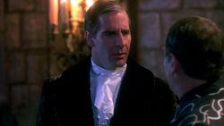 "Al guides Sam, as the eccentric Lord Nigel Corrington, in the attempt to prevent Nigel's wife, Lady Alexandra, from being murdered in a grisly vampire ritual in the episode ""Blood Moon"" in Season 5."
