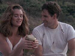 "Sam Sam leaps into a Greek sailor who is stranded on a deserted island with a spoiled rich debuatante (Brooke Shields) and soon connect and learn more about each other in ""Leaping of the Shrew"" in Season 5 (ep.#3)."
