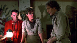 "As archaeologist Dale Conway just as he and fellow archaeologist Ginny Will (Lisa Darr) enter the tomb of Pharaoh Ptah-Hotep, as Al tries to warn Sam of impending danger; a curse, in ""The Curse of the Ptah-Hotep"" in Season 2 (ep.#20)."
