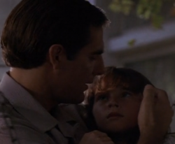 "am, who leaps into Clayton, comforts daughter Abigail in ""One Little Heart"", the first episode in the ""Trilogy"" story arc in Season 5."
