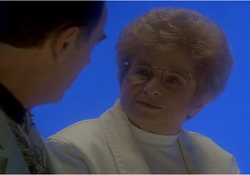 "While in the Quantum Leap waiting room in 1999, Dr. Ruth, into whom Sam has leaped in 1985, counsels Al on his fear of abandonment issues, assessing that it's why he can't commit to a relationship with a mate in ""Dr. Ruth"" in Season 5."