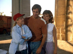 "Sam leaps into geeky Los Angeles teen Cam Wilson, as he, with the help of Al and prospective girlfrined and tomboy Jill (left) tries to prevent his sister Cheryl (right) from getting into a bad marriage and acting on her ambition of working with the Peace Corps in ""Camikazi Kid"" in Season 1 (ep.#8)."