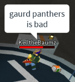 Gaurd panthers is bed