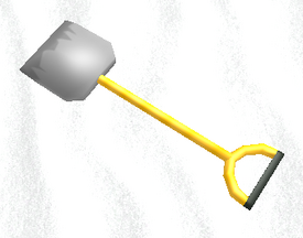 Shovel on the snow