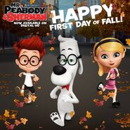 Mr. Peabody and Sherman First day of Fall
