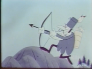 Snidely attacks the camp
