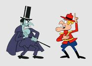 Dudley Do Right and Snidely Whiplash