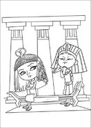 Penny Peterson and King Tut coloring page 02