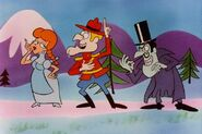 Dudley Do-Right Nell Finwick and Snidely Whiplash