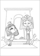 Penny Peterson and King Tut Coloring page 01