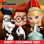 Mr. Peabody and Sherman Happy Columbis Day
