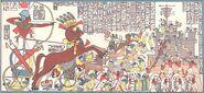 Ramses II besieging the Cheta people in Dapur