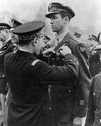Jimmy Stewart getting medal