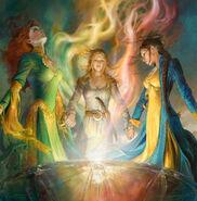 Aviendha, Elayne, Nynaeve - Bowl of the Winds