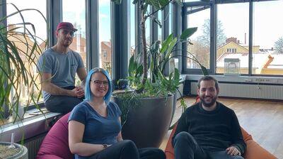 André, Ellen, and Semih. Foto: Press.